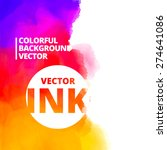 background of colorful ink... | Shutterstock .eps vector #274641086