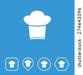 chef cap icon on flat ui colors ...