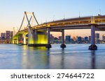 view of tokyo bay and rainbow... | Shutterstock . vector #274644722