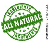 all natural ingredients vector... | Shutterstock .eps vector #274646666