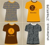 set of t shirts with decorative ... | Shutterstock .eps vector #274649198