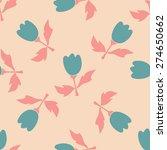 seamless flower pattern.... | Shutterstock .eps vector #274650662