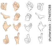 hands cartoon  | Shutterstock .eps vector #274655288