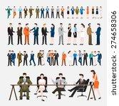 business peoples acting  in... | Shutterstock .eps vector #274658306