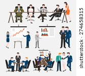 business peoples acting  in... | Shutterstock .eps vector #274658315
