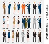 business peoples acting  in... | Shutterstock .eps vector #274658318
