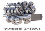 v8 bi turbocharger engine... | Shutterstock . vector #274660976