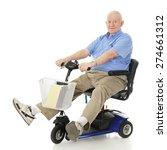 a senior man delightedly... | Shutterstock . vector #274661312