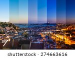 aerial view montage of lisbon... | Shutterstock . vector #274663616