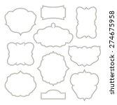 vintage frames isolated on... | Shutterstock . vector #274675958