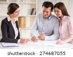 young realtor explain lease... | Shutterstock . vector #274687055