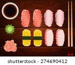 freshly cooked japanese sashimi ...