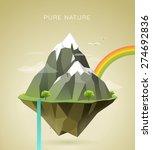 polygonal illustration of... | Shutterstock .eps vector #274692836