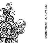 black flower design  lace... | Shutterstock .eps vector #274695632
