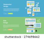 web design. computer monitor... | Shutterstock .eps vector #274698662