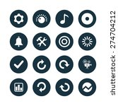 audio icons universal set for... | Shutterstock .eps vector #274704212
