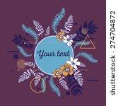 beautiful flower background art ... | Shutterstock .eps vector #274704872