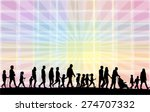 people actively spending time  | Shutterstock .eps vector #274707332