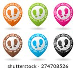 vector color map pointers with... | Shutterstock .eps vector #274708526