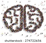large group of people seen from ... | Shutterstock . vector #274722656