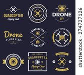 vector set of drone flying club