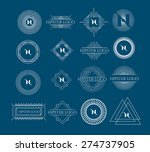 vector set of vintage frames... | Shutterstock .eps vector #274737905