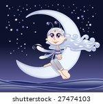 fairy moon | Shutterstock .eps vector #27474103