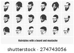hairstyles with a beard and... | Shutterstock .eps vector #274743056
