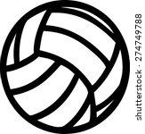 volleyball ball  | Shutterstock .eps vector #274749788