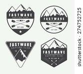 set if vintage rafting logo ... | Shutterstock .eps vector #274752725