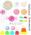 a variety of candy | Shutterstock .eps vector #27475354
