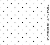gray polka dot pattern ... | Shutterstock .eps vector #274759262
