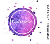 lilac watercolor splash circle... | Shutterstock .eps vector #274761146