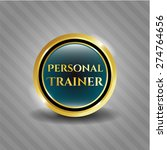 personal trainer gold shiny... | Shutterstock .eps vector #274764656