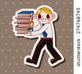 office worker   cartoon sticker ... | Shutterstock . vector #274768745
