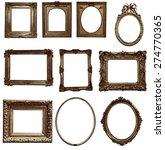antique wooden frame on white... | Shutterstock . vector #274770365