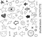free hand drawn arrows and... | Shutterstock .eps vector #274771772
