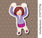office workers   cartoon... | Shutterstock . vector #274772756