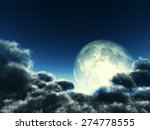 magic moon in the night sky ... | Shutterstock . vector #274778555