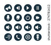 audio icons universal set for... | Shutterstock .eps vector #274781612