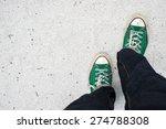 Green Sneakers Shoes Walking O...