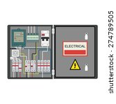 picture of the electrical panel ... | Shutterstock .eps vector #274789505
