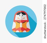 russian doll flat icon with...   Shutterstock . vector #274797002
