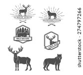 deer and wolf. posters  labels  ... | Shutterstock .eps vector #274797266