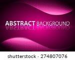 dark pink light abstract... | Shutterstock .eps vector #274807076