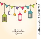 illustration celebration card... | Shutterstock .eps vector #274809296