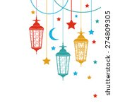 illustration ramadan kareem... | Shutterstock .eps vector #274809305