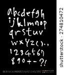 handwritten alphabet   alphabet ...   Shutterstock .eps vector #274810472