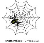 Vector Web Spider To White...