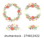 floral watercolor wreaths ... | Shutterstock .eps vector #274812422